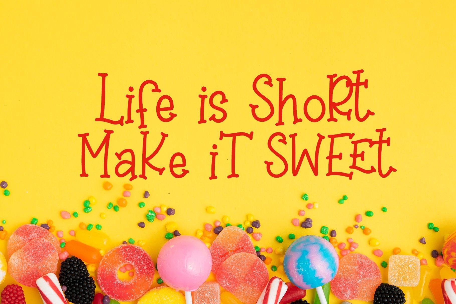 Sweet Lollipop - Fun Handwritten Font example image 3