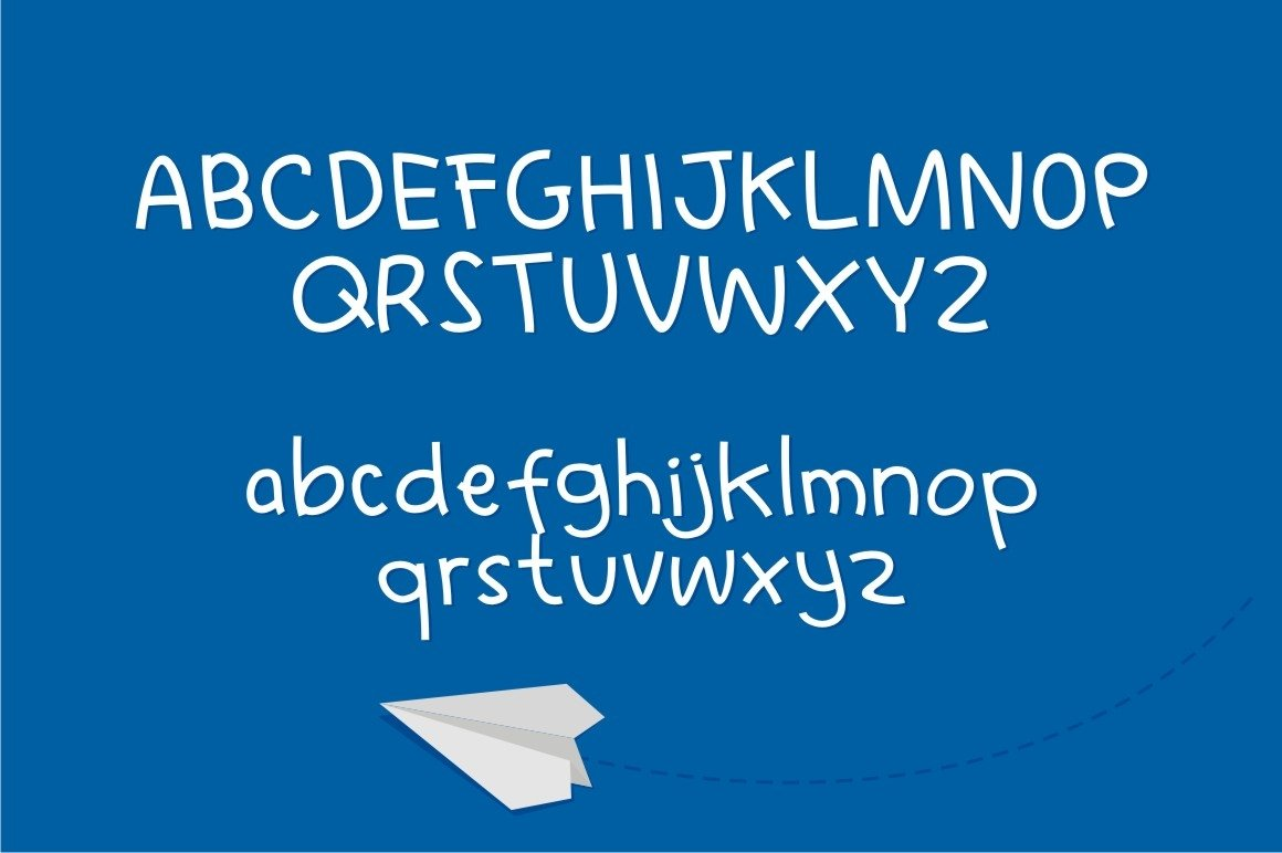 Learn to Fly - Fun Cartoon Font example image 6