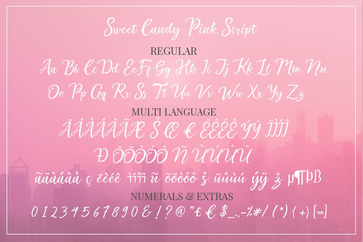 Sweet Candy Pink 2 layered example image 15