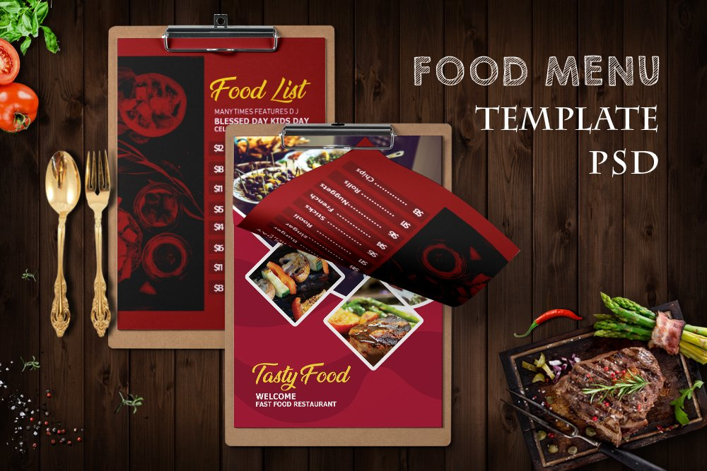 Food Menu Template Psd example image 1