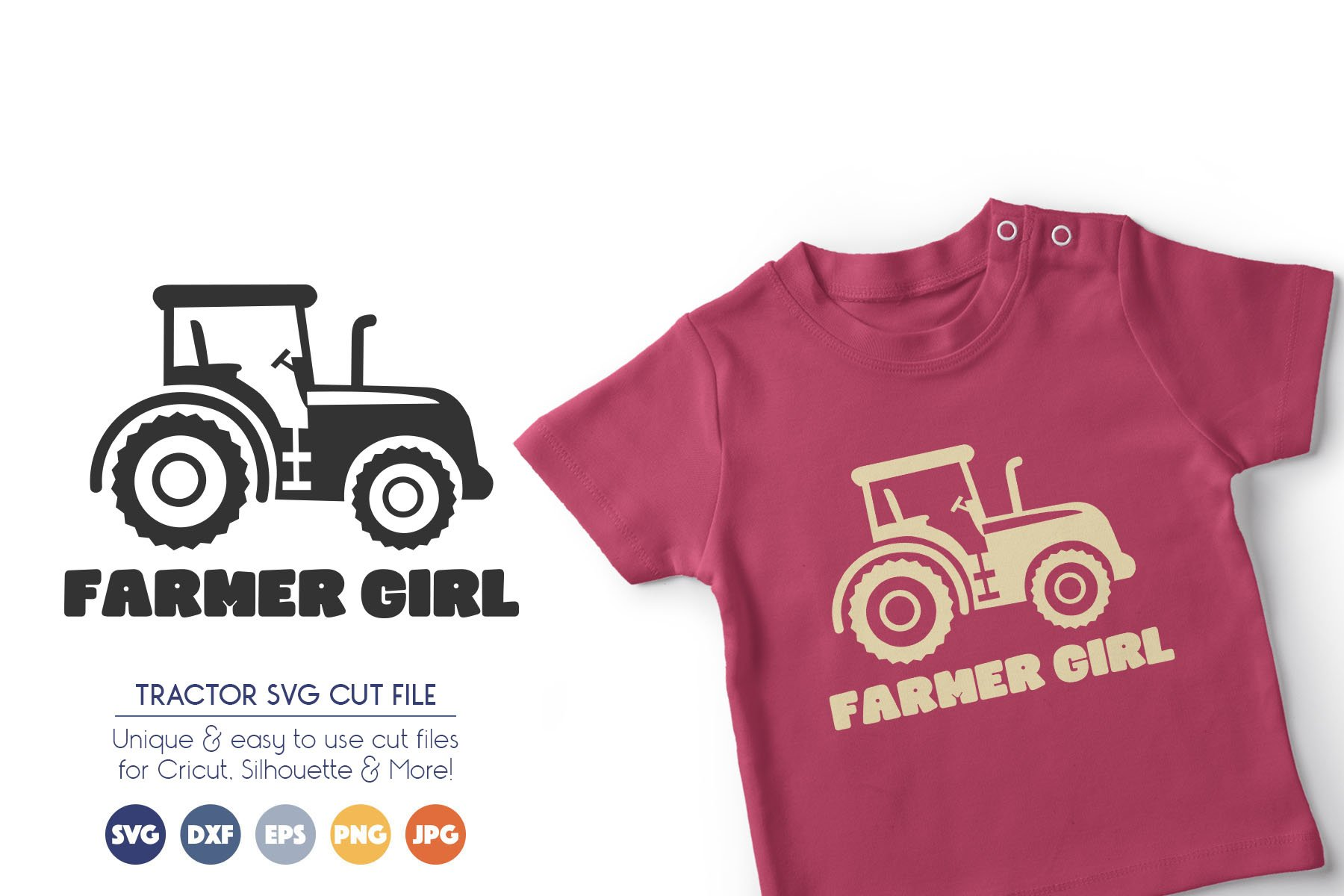 Tractor SVG Files - Farmer Girl example image 1