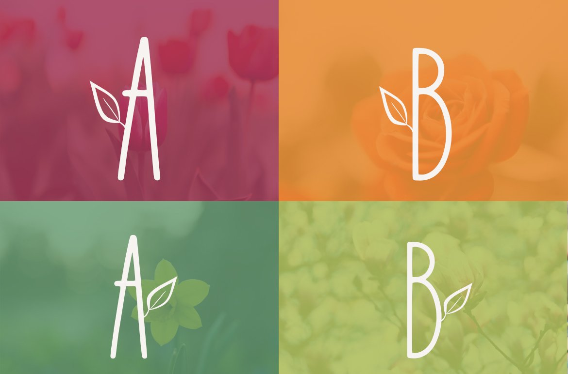 Lily Bloom Flowery Font example image 2
