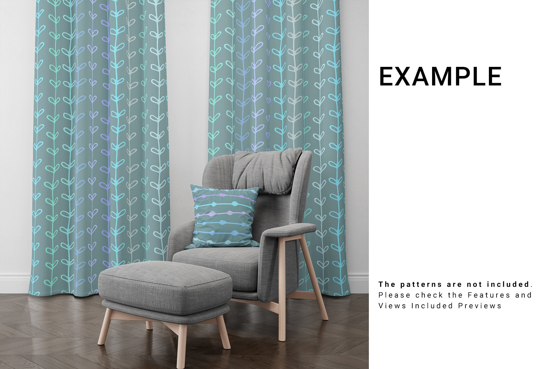 Curtains and Pillow Set example image 7