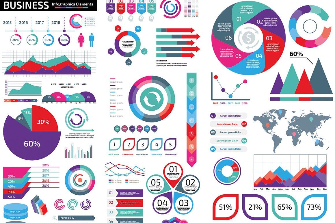 1000 Ultra Big Bundle Infographics Elements example image 2