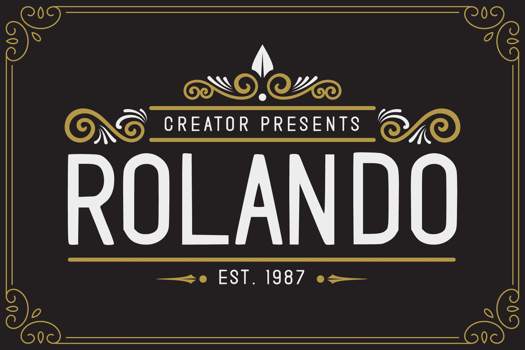 Rolando Vintage Font example image 1