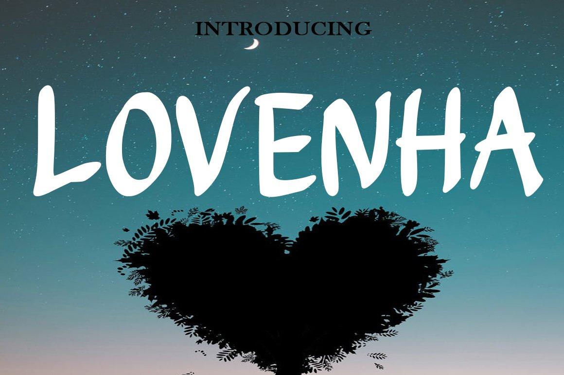 Lovenha - Font example image 5