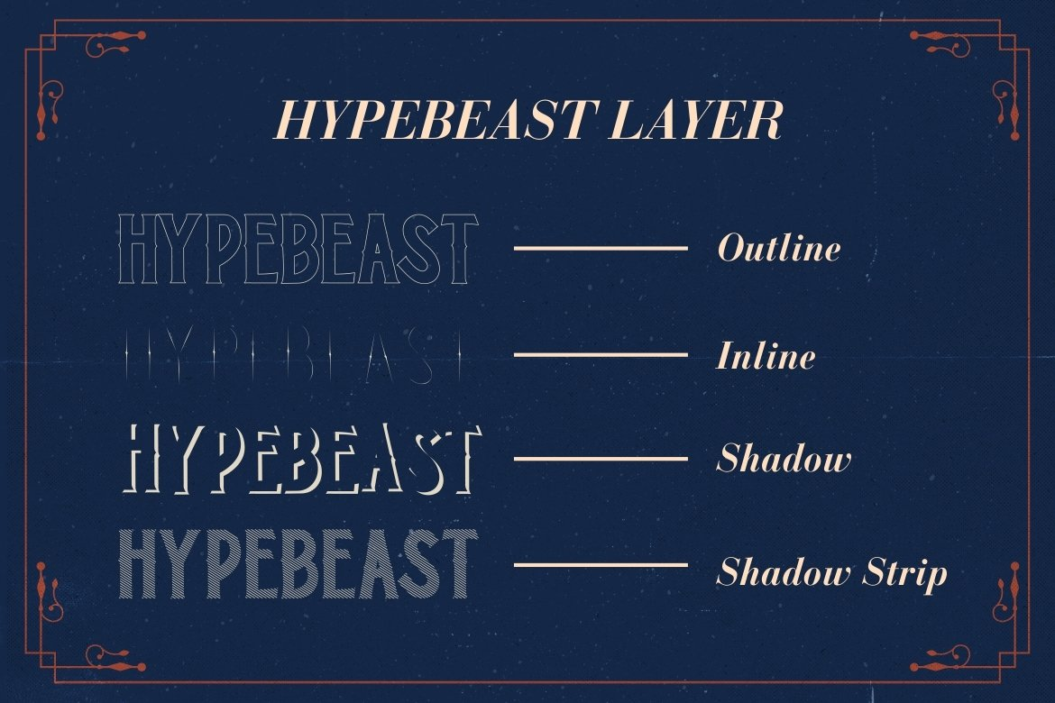 Hypebeast - Layered Font & Ornaments example image 4