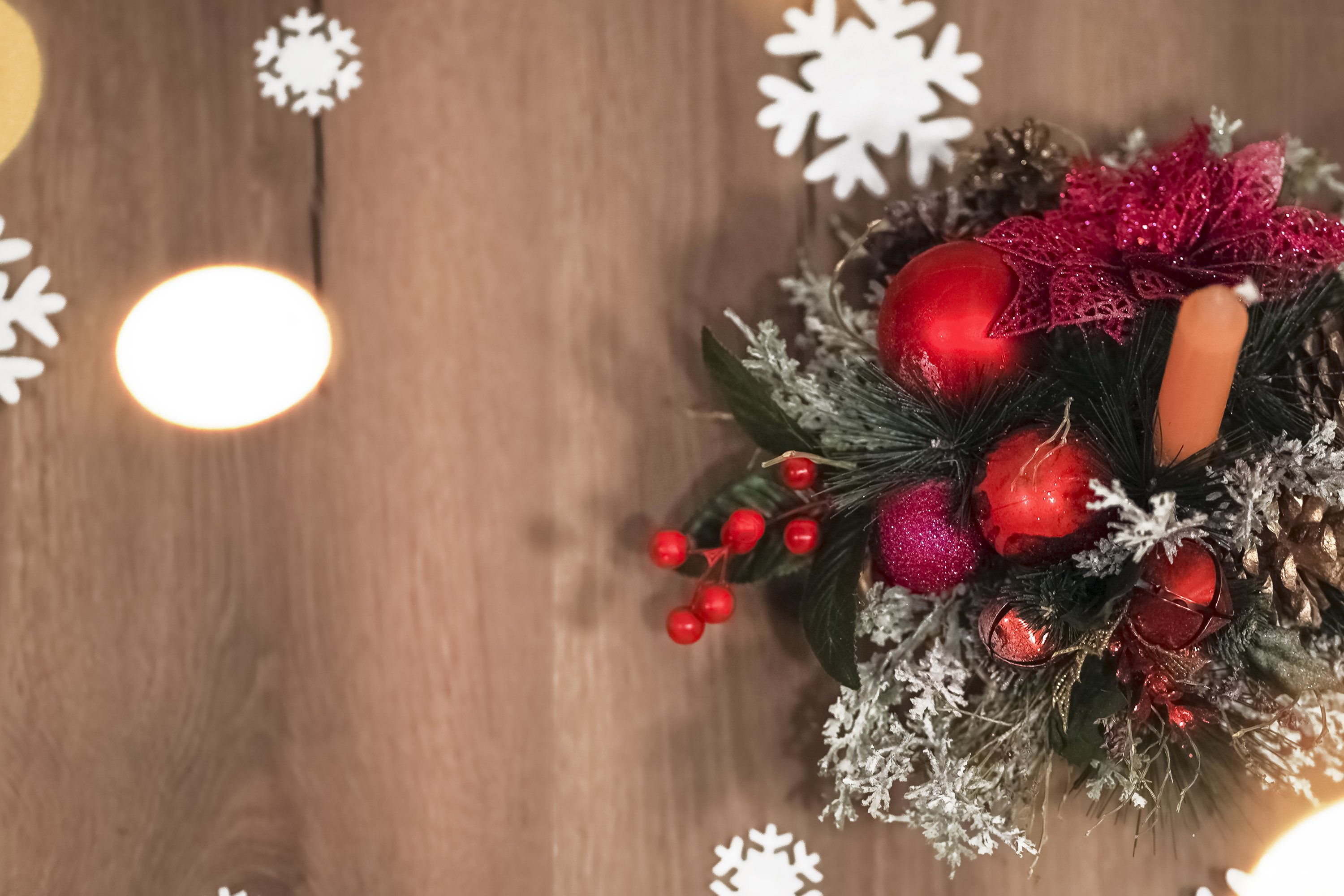 Christmas background, postcard new year composition example image 1