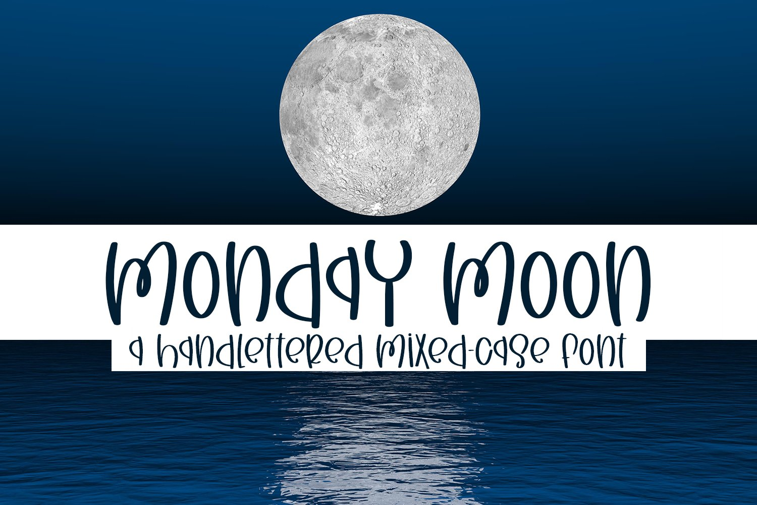 Monday Moon - A Handlettered Mixed-Case Font example image 1