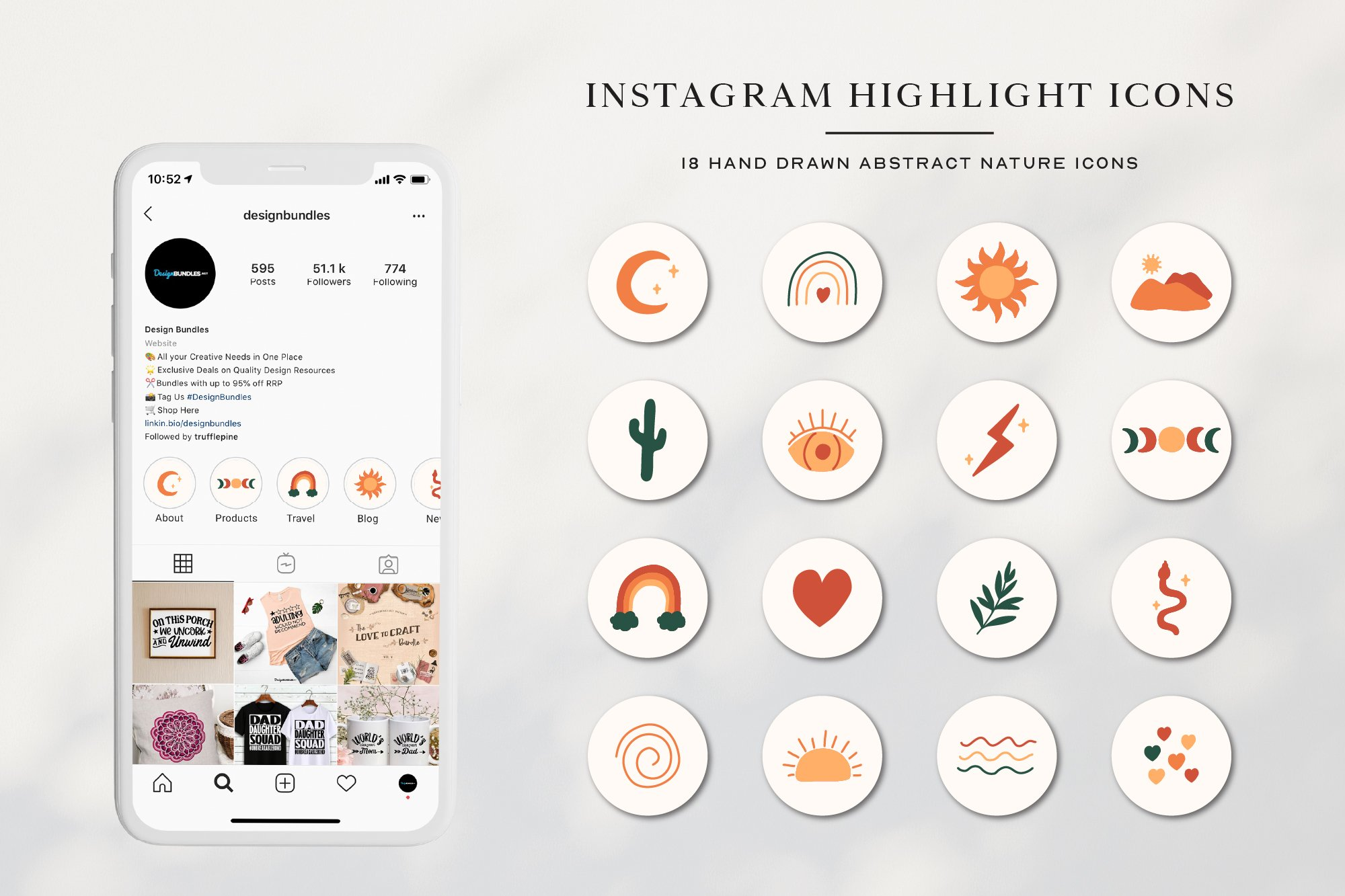 Instagram Abstract Highlights Icons   Instagram Story Covers example image 1