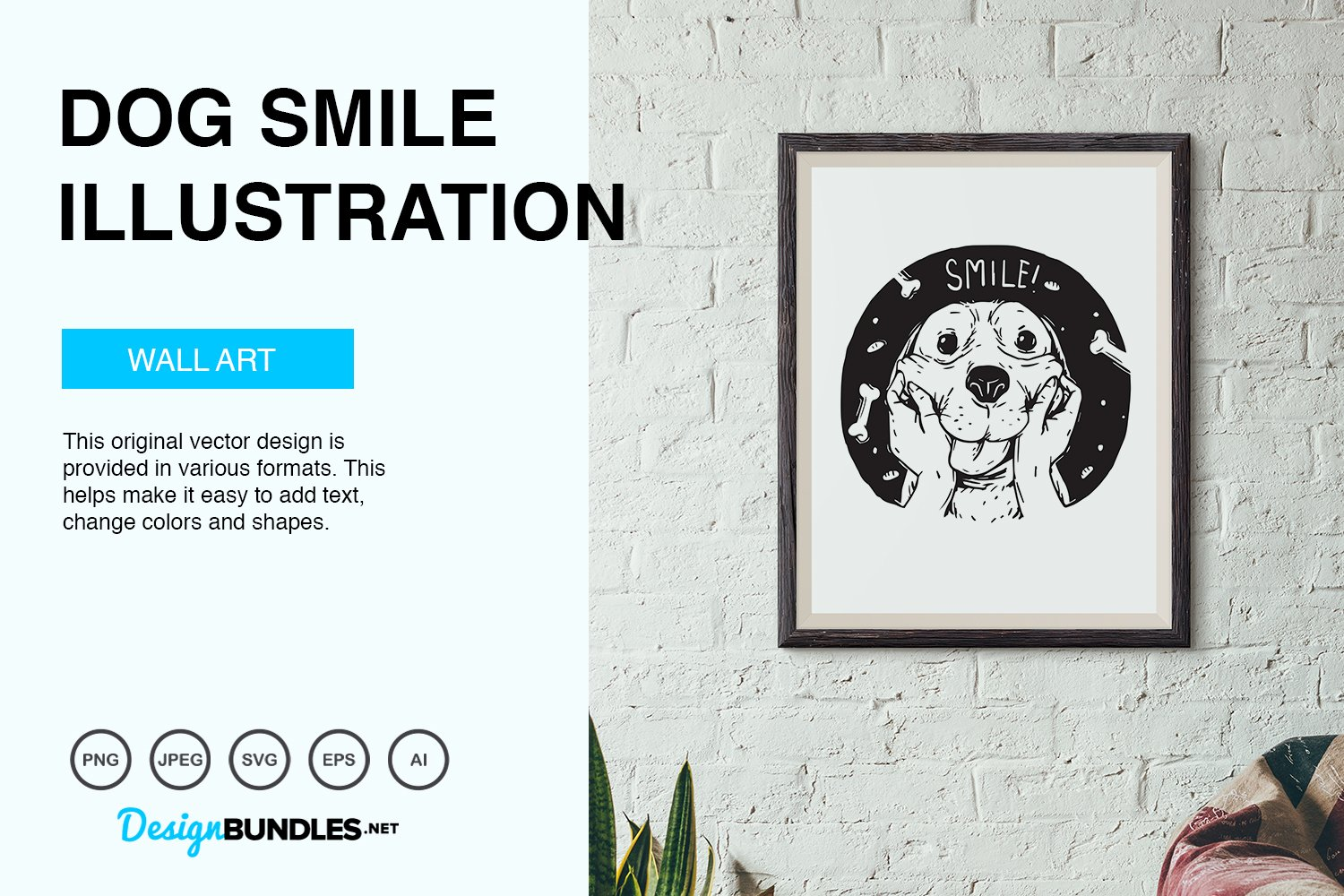 Dog Smile Vector Illustration example image 3