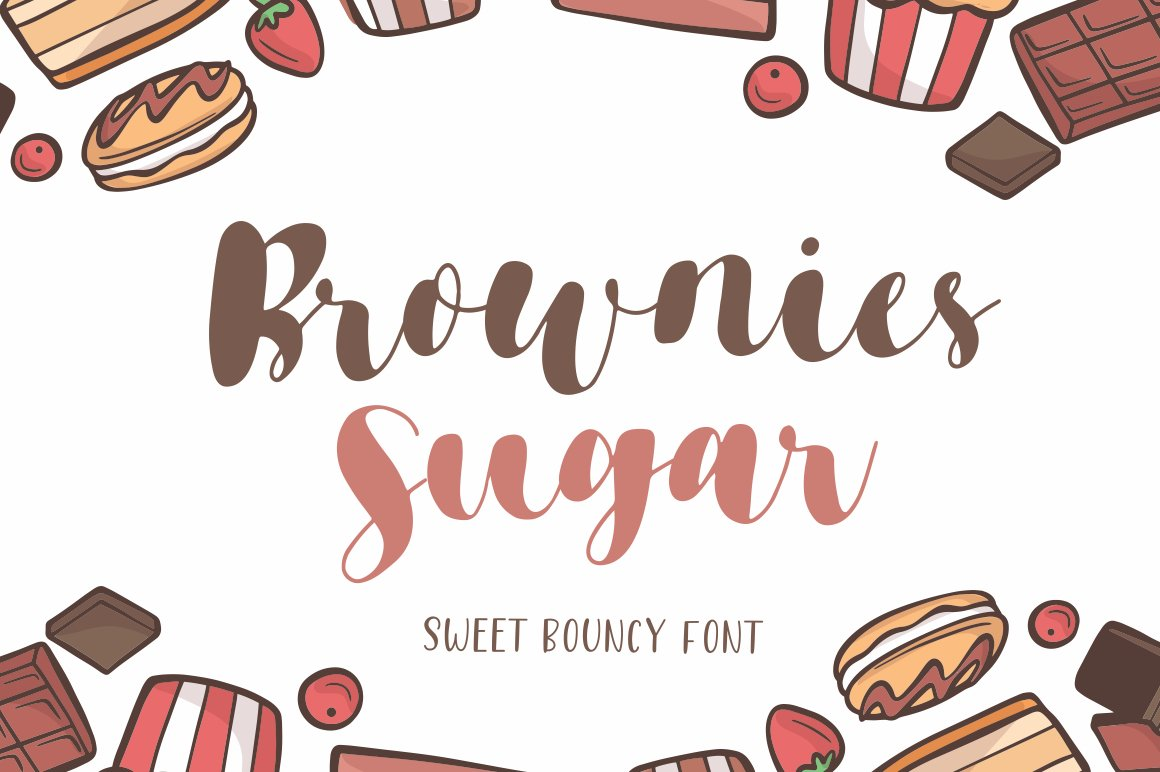 Brownies Sugar - Sweet Bouncy Font example image 1