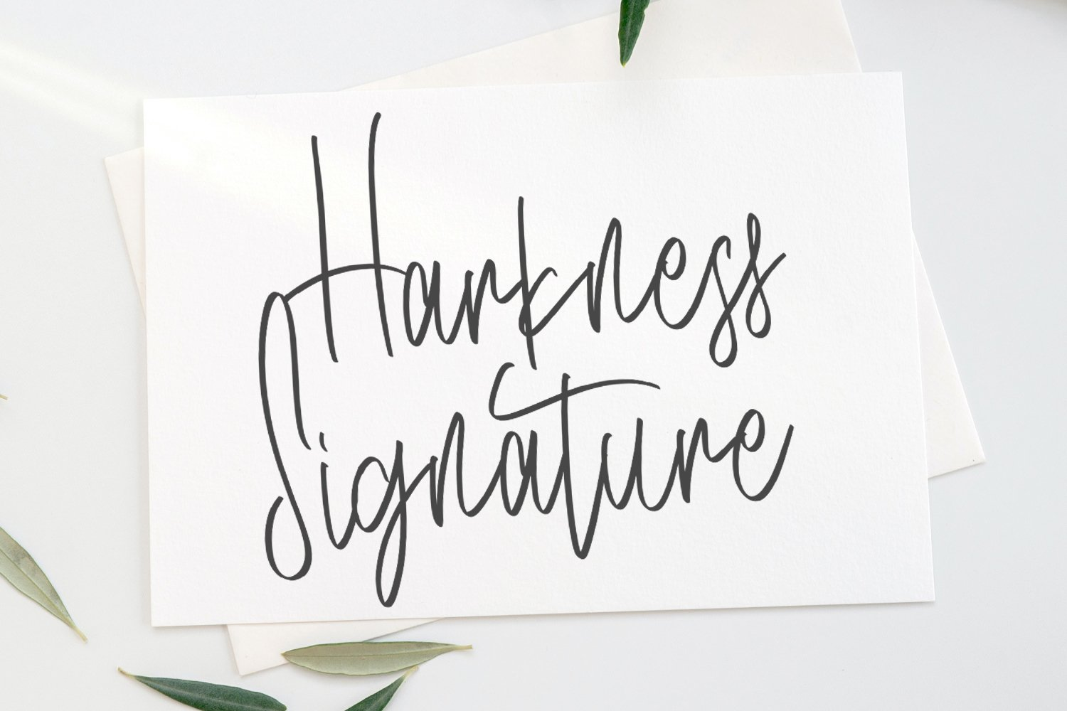 Harkness - Signature Script Fonts example image 1