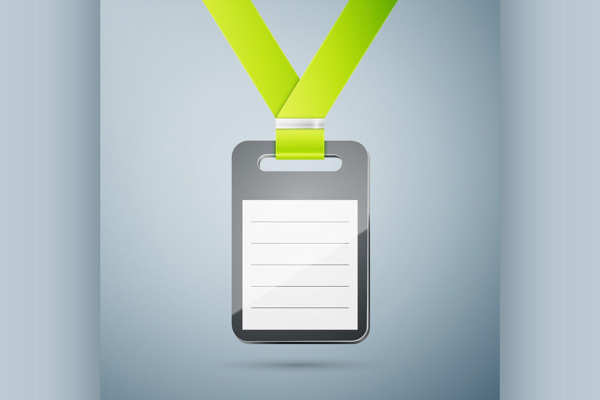 Plastic id badge example image 1