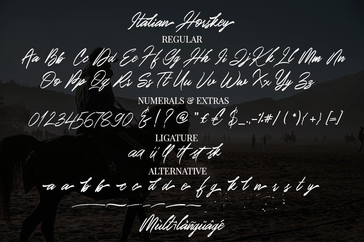 Italian Horskey Signature Script example image 15