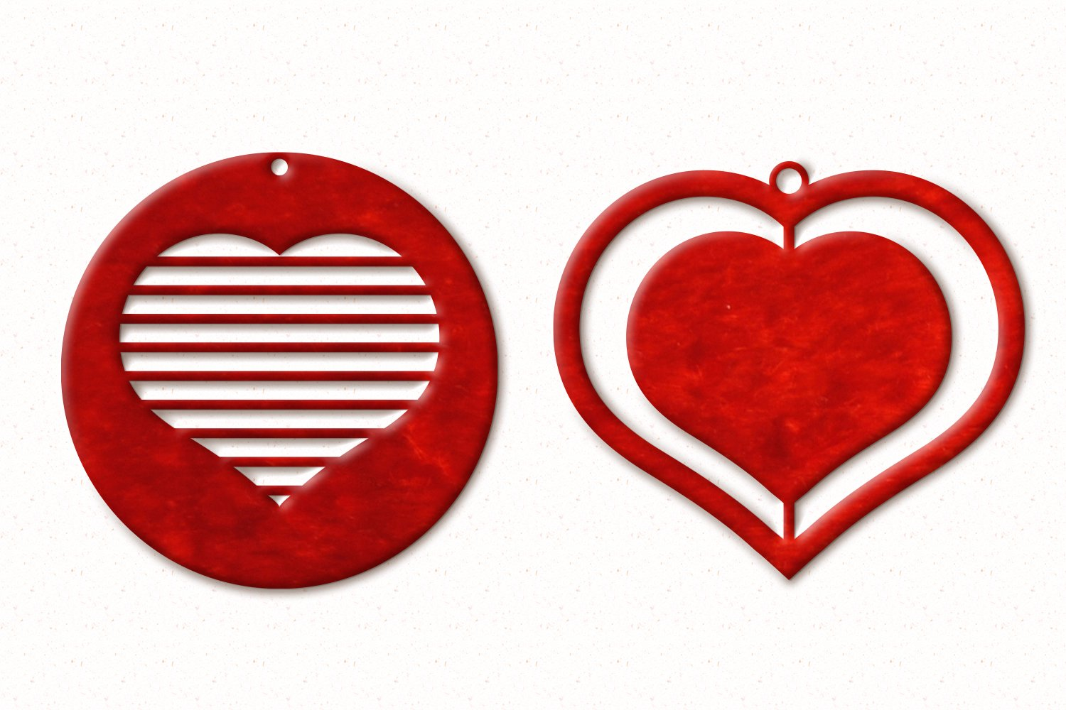 Valentine Earrings SVG example image 4