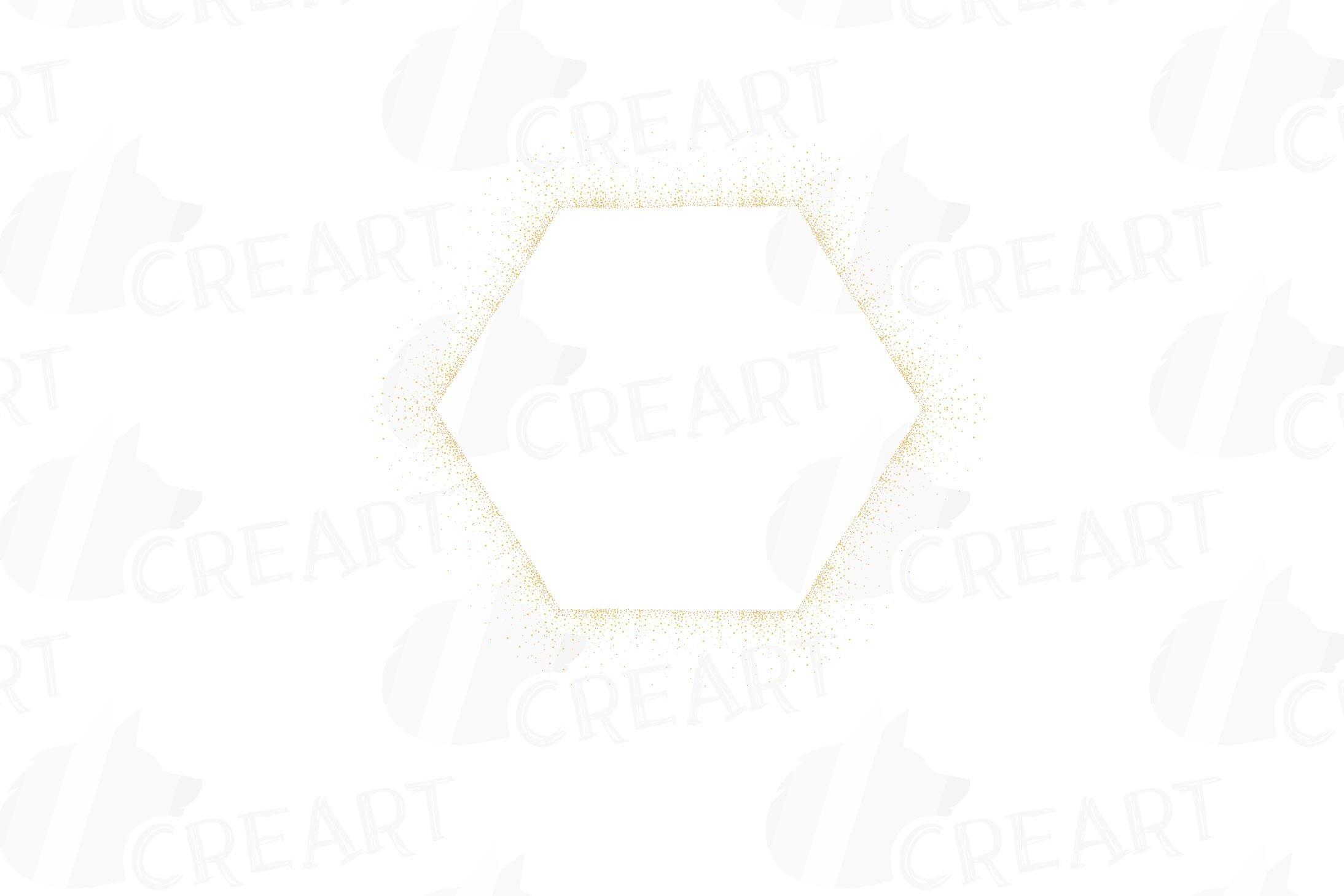 Download Glitter And Sparkling Golden Geometric Frames And Borders 294568 Illustrations Design Bundles