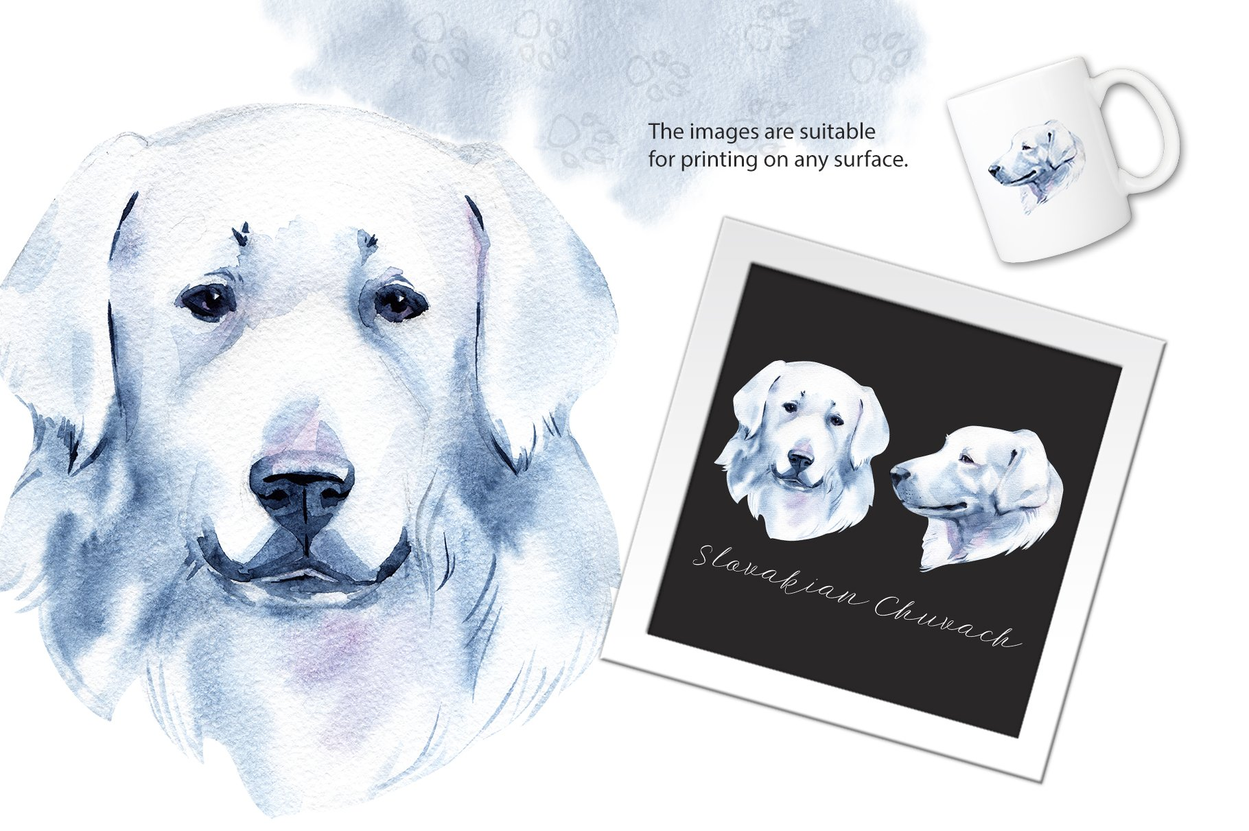 Watercolor herding dogs example image 2