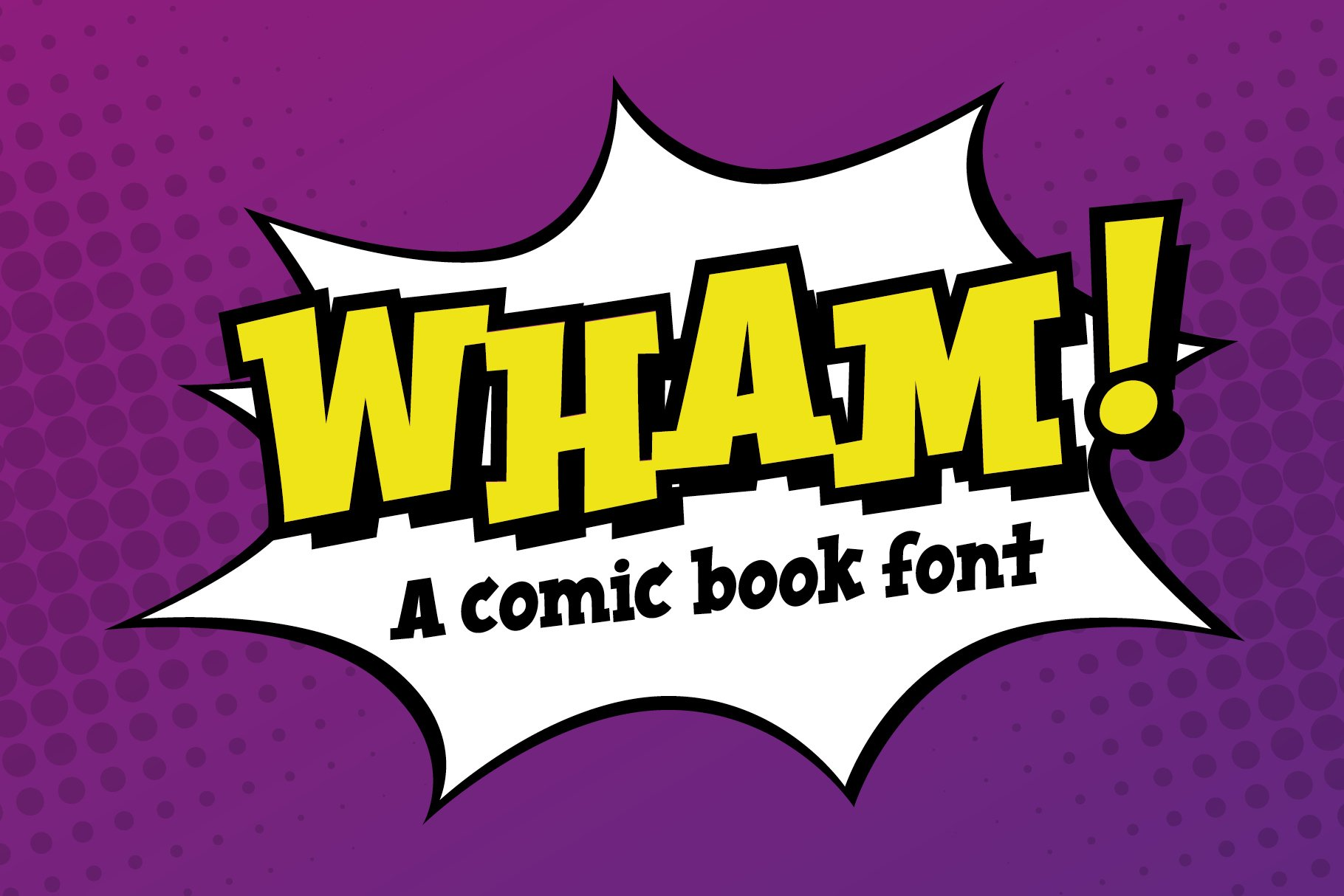 Wham! comic book cartoon font example image 2