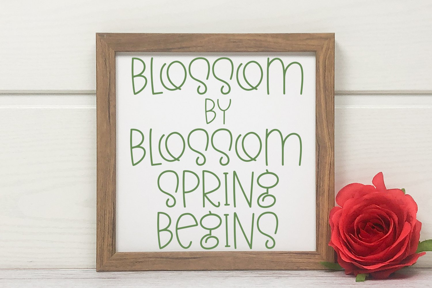 Colors of Spring - A Quirky Hand-Lettered Font example image 2