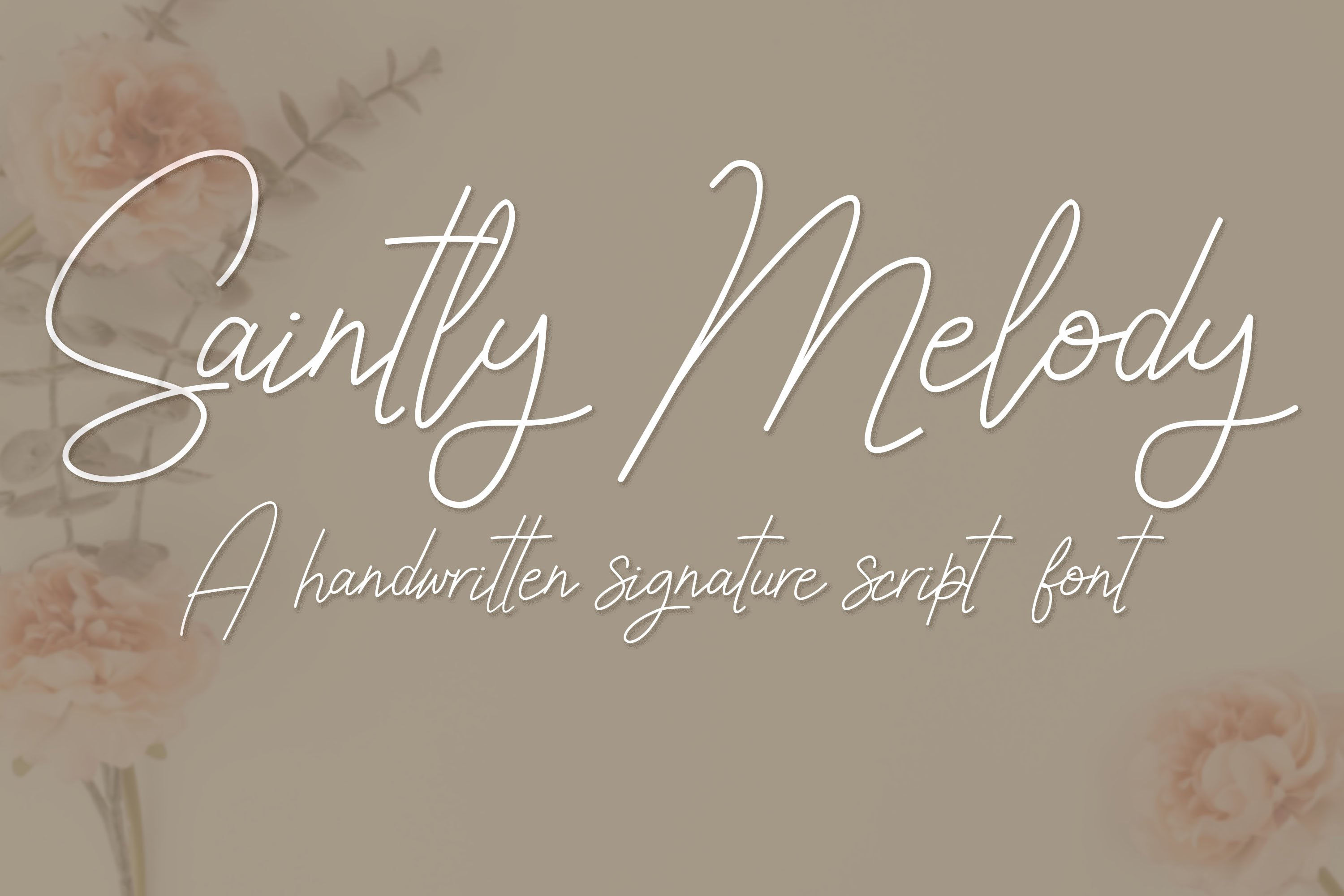 Saintly Melody - a handwritten signature script font example image 1