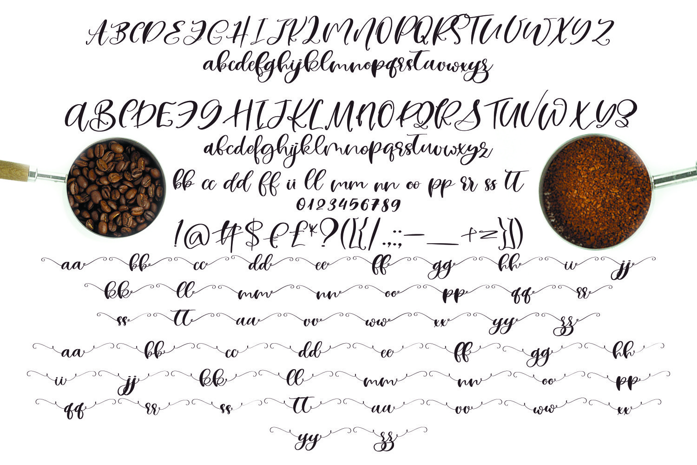 Rubiaceae Script Font example image 6
