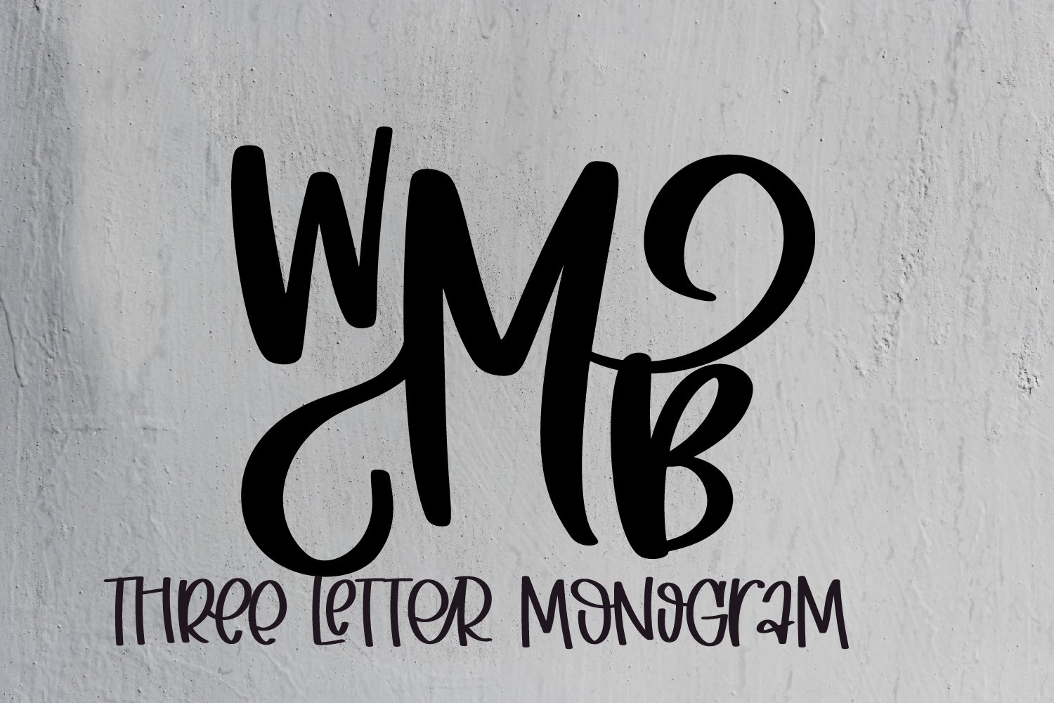 3 Letter Monogram Type - Initials Font example image 5