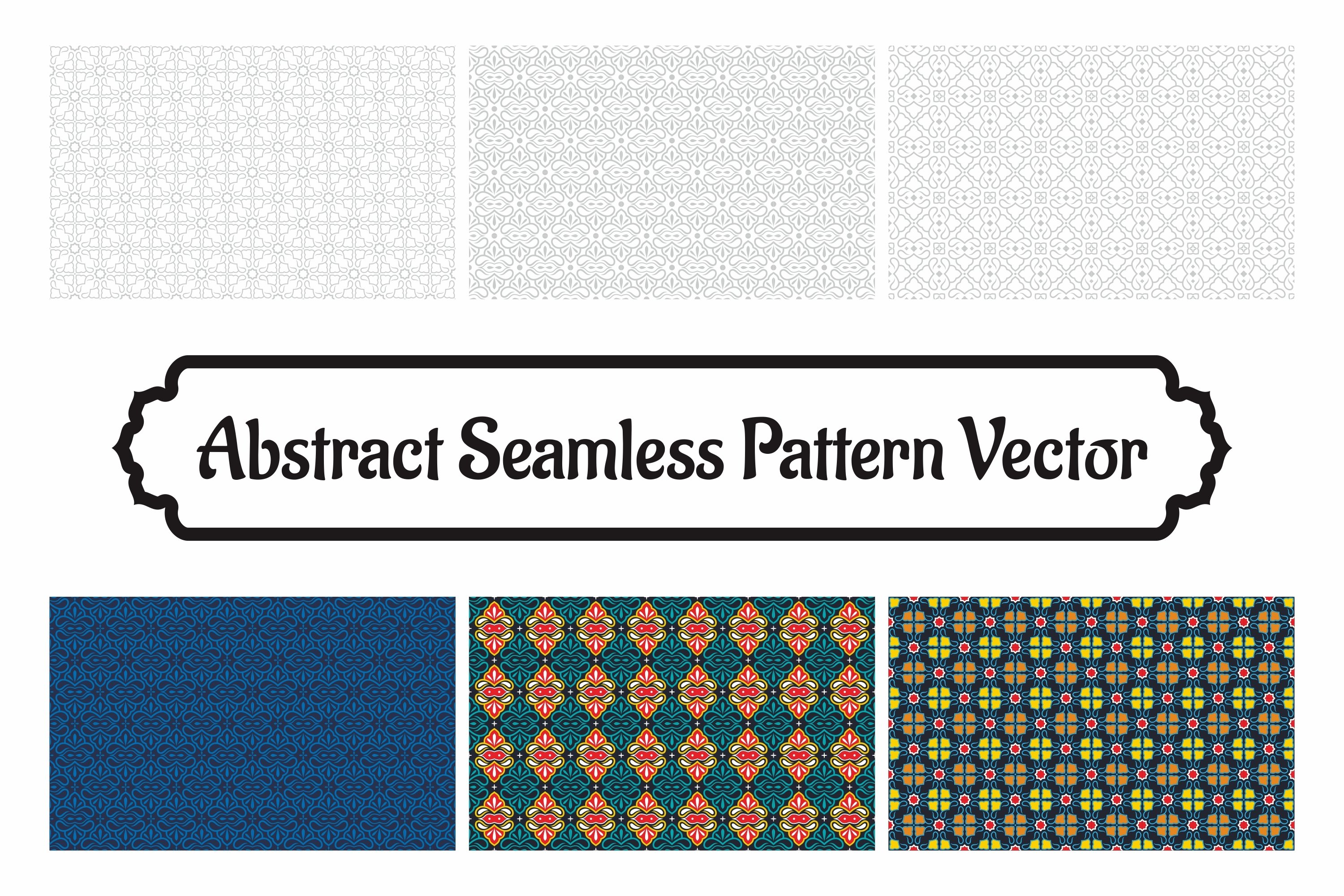6 Collection Of Abstract Seamless Pattern Vol.9 example image 1