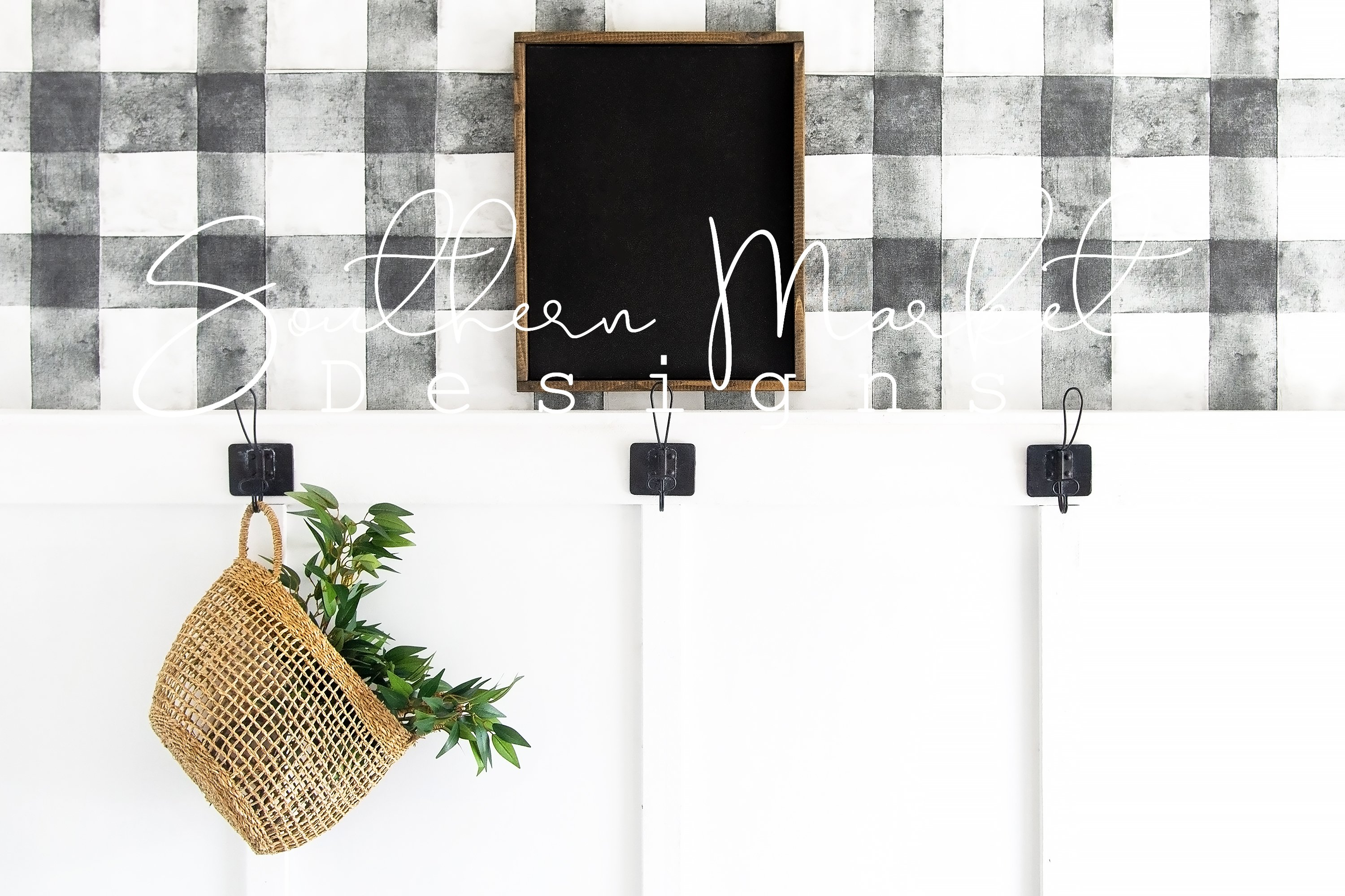 16x20 Real Wood Sign Mock Up | Wood pallet Sign Flat Lay | example image 1