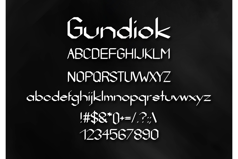 Gundiok Gothic Font example image 2