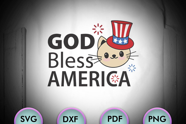 God Bless America July 4 Kitty Svg Cat Svg 580723 Cut Files Design Bundles