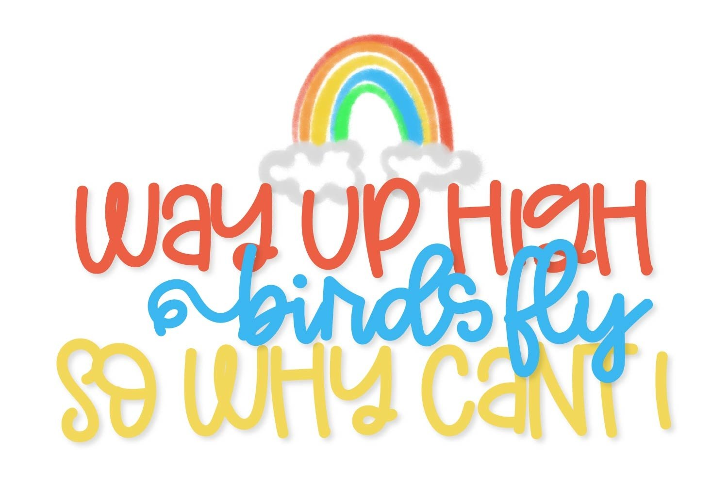 Double Rainbow - A Font Duo with Doodle Extras example image 2