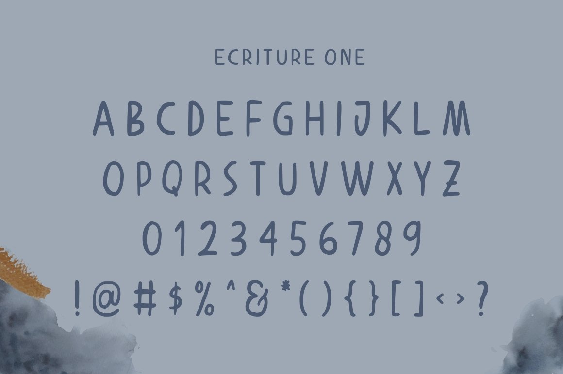Ecriture || Handdrawn Font example image 7