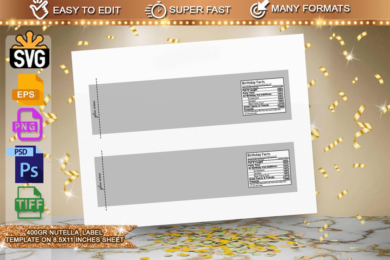 450g Nutella Jar Label Template 270752 Customizable Templates Design Bundles