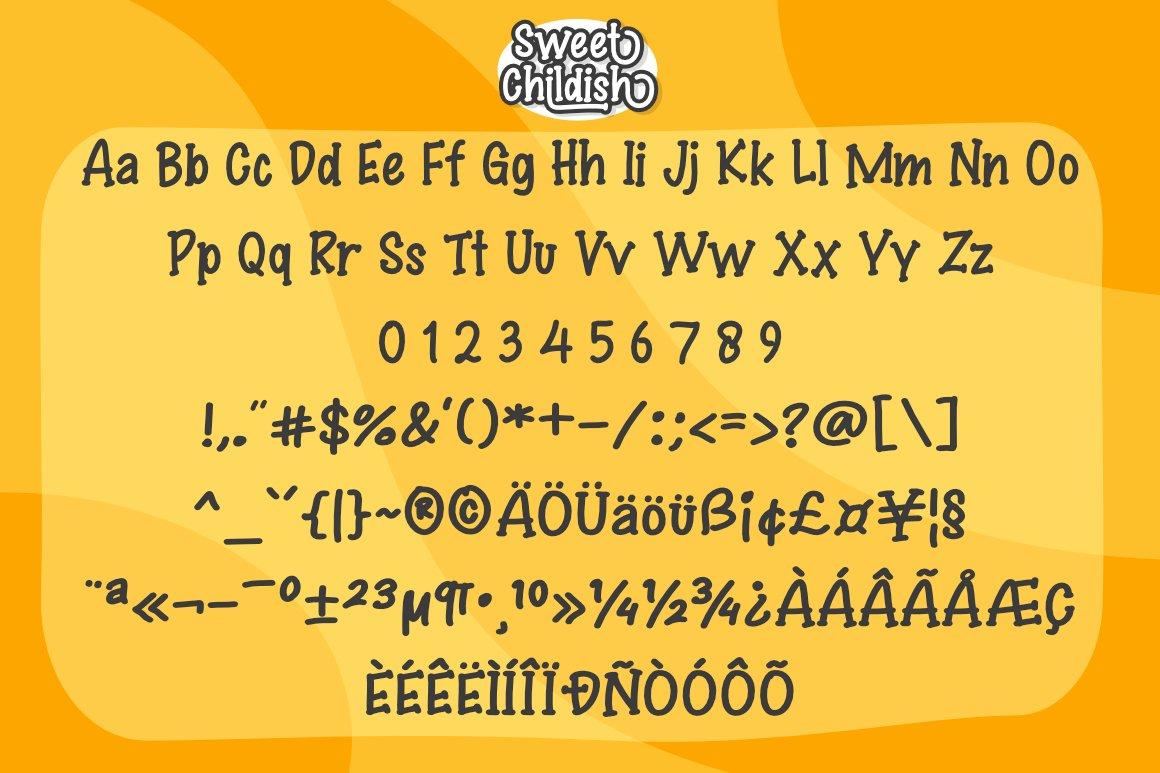 Sweet Childish Happy font example image 8
