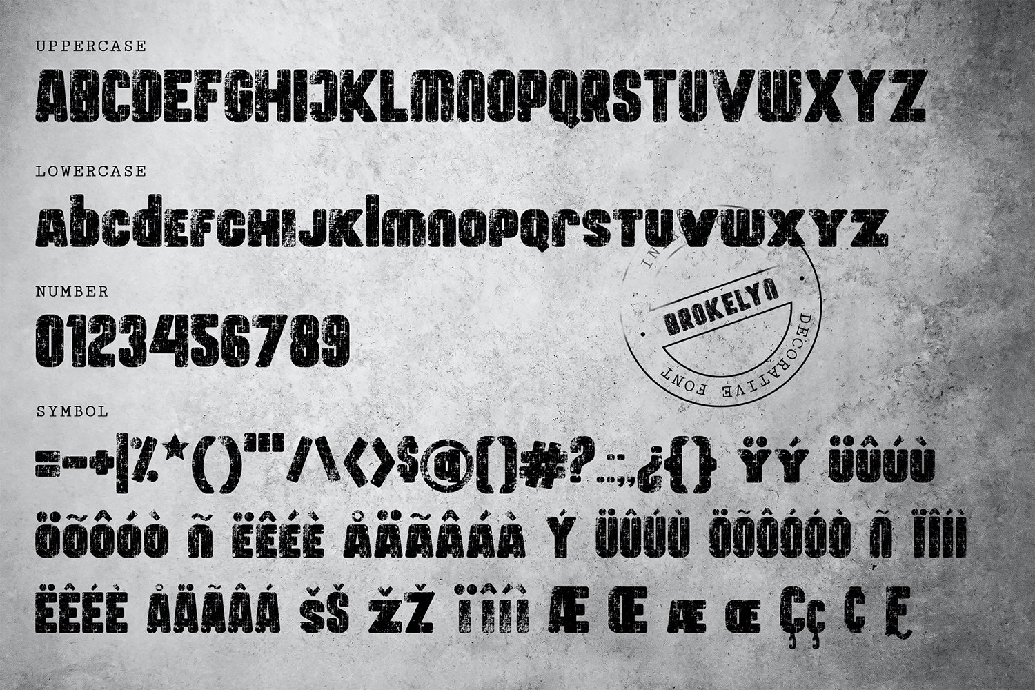 Brokelyn Font example image 5