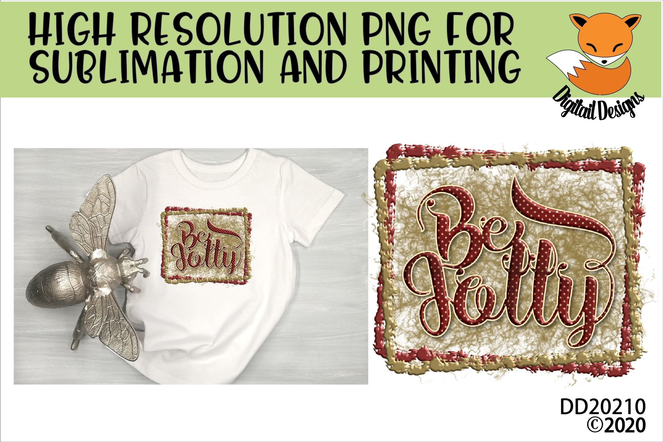 Be Jolly Christmas Sublimation example image 1