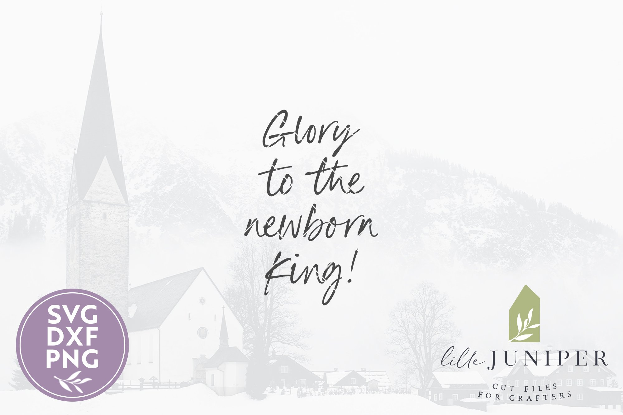 Glory To The Newborn King Svg Files Farmhouse Christmas Svg 820970 Cut Files Design Bundles