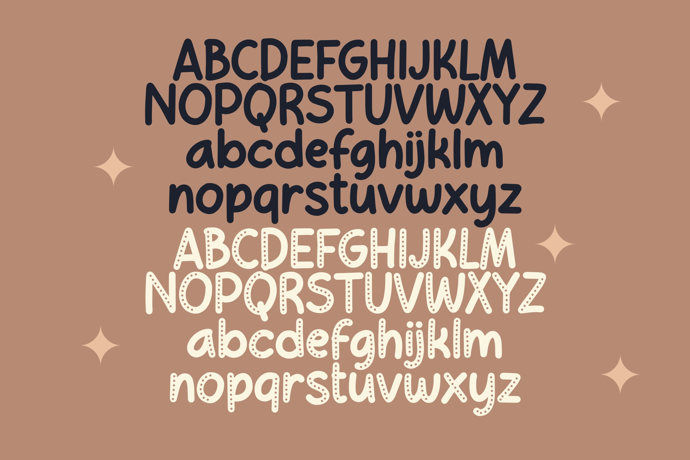 Choco Cookie - Playful Duo Font example image 3