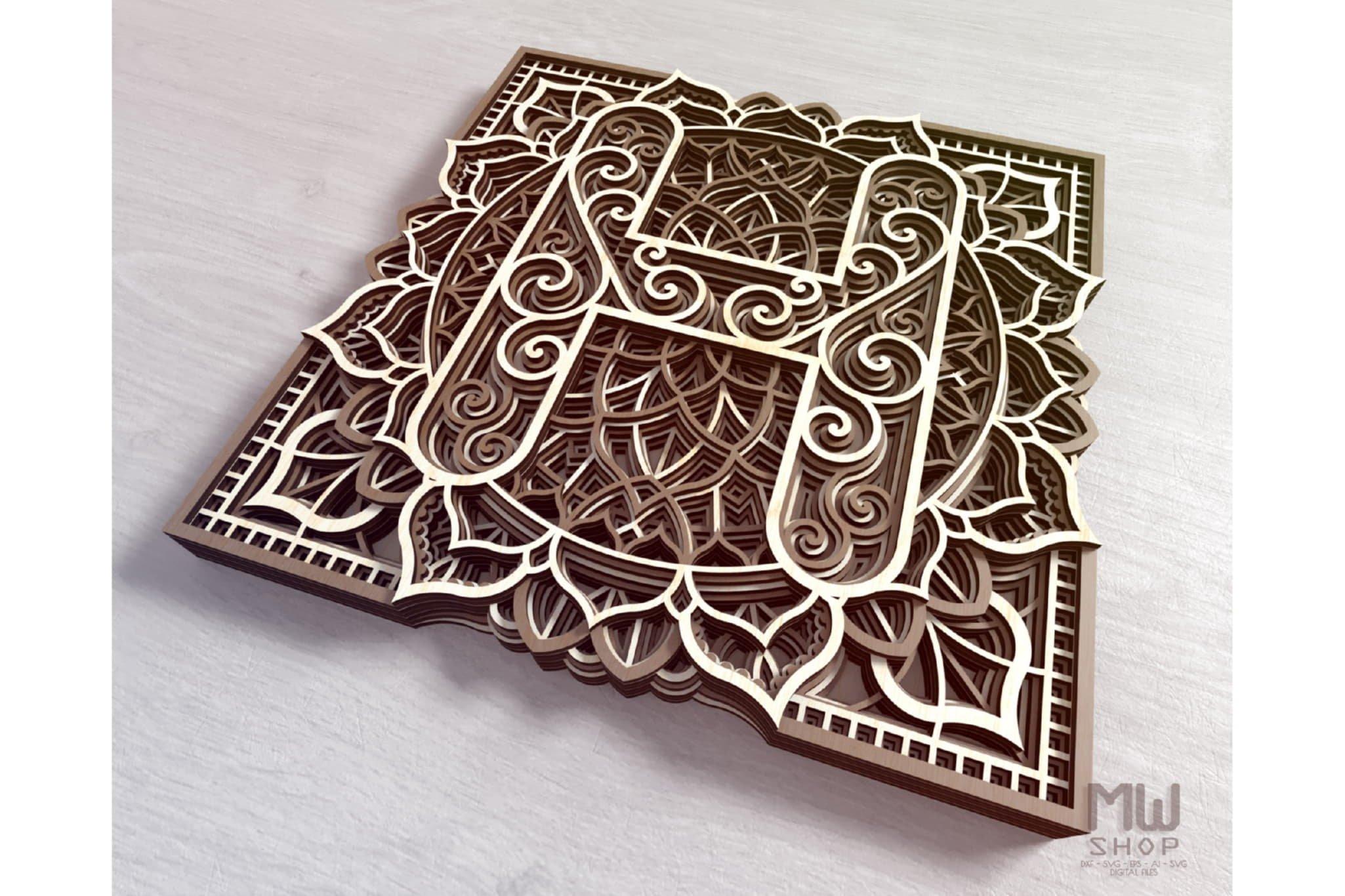 Mandala Letter H, Alphabet letter H pattern, Letter H SVG ...