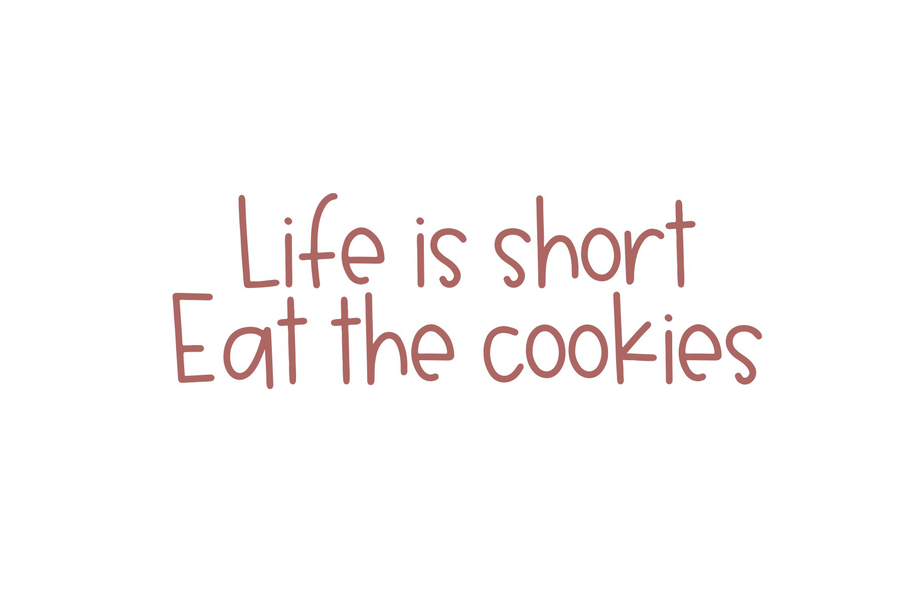 Oatmeal Cookies - A Cute Handwritten Font example image 3