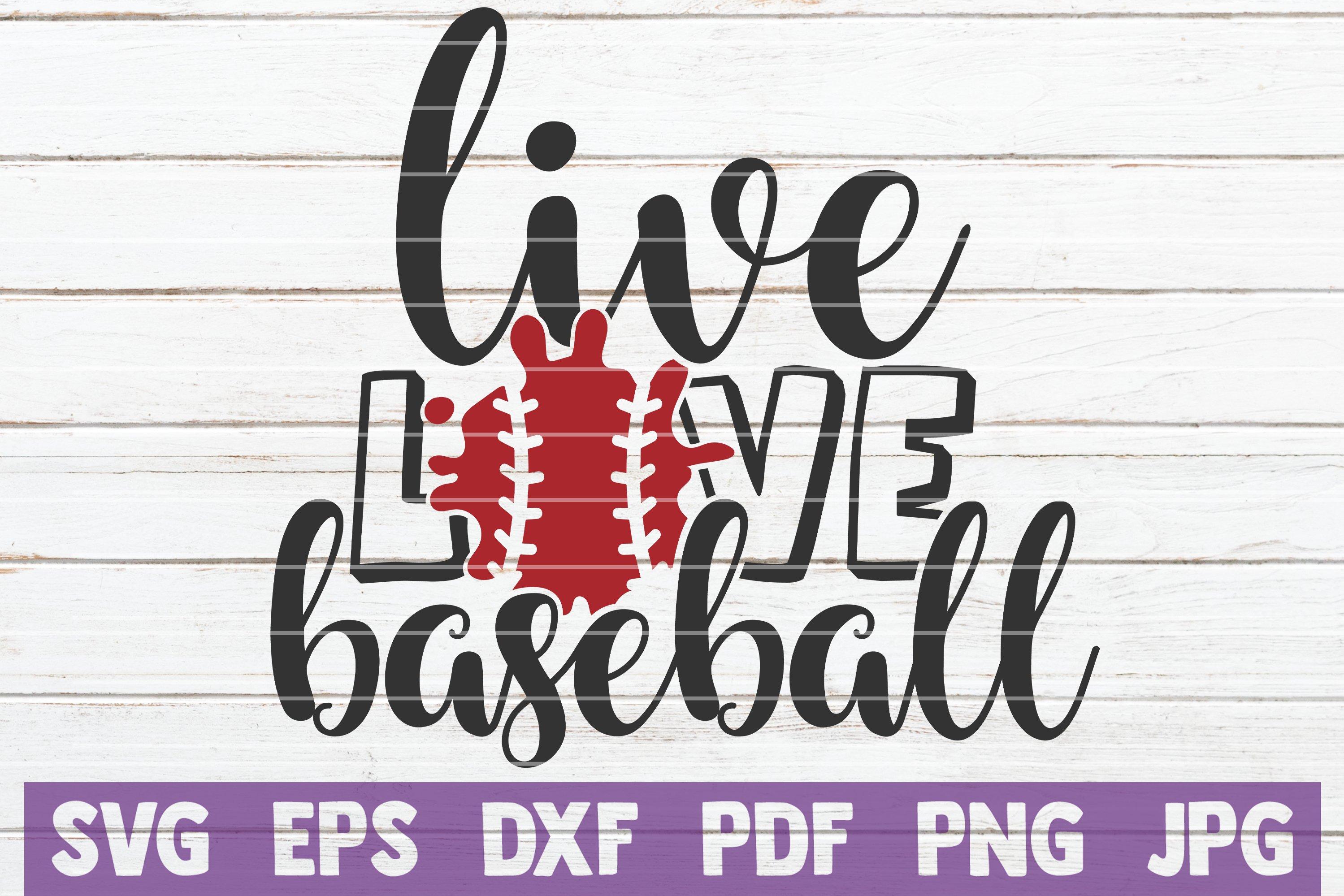 Download Live Love Baseball Svg Cut File 633444 Cut Files Design Bundles