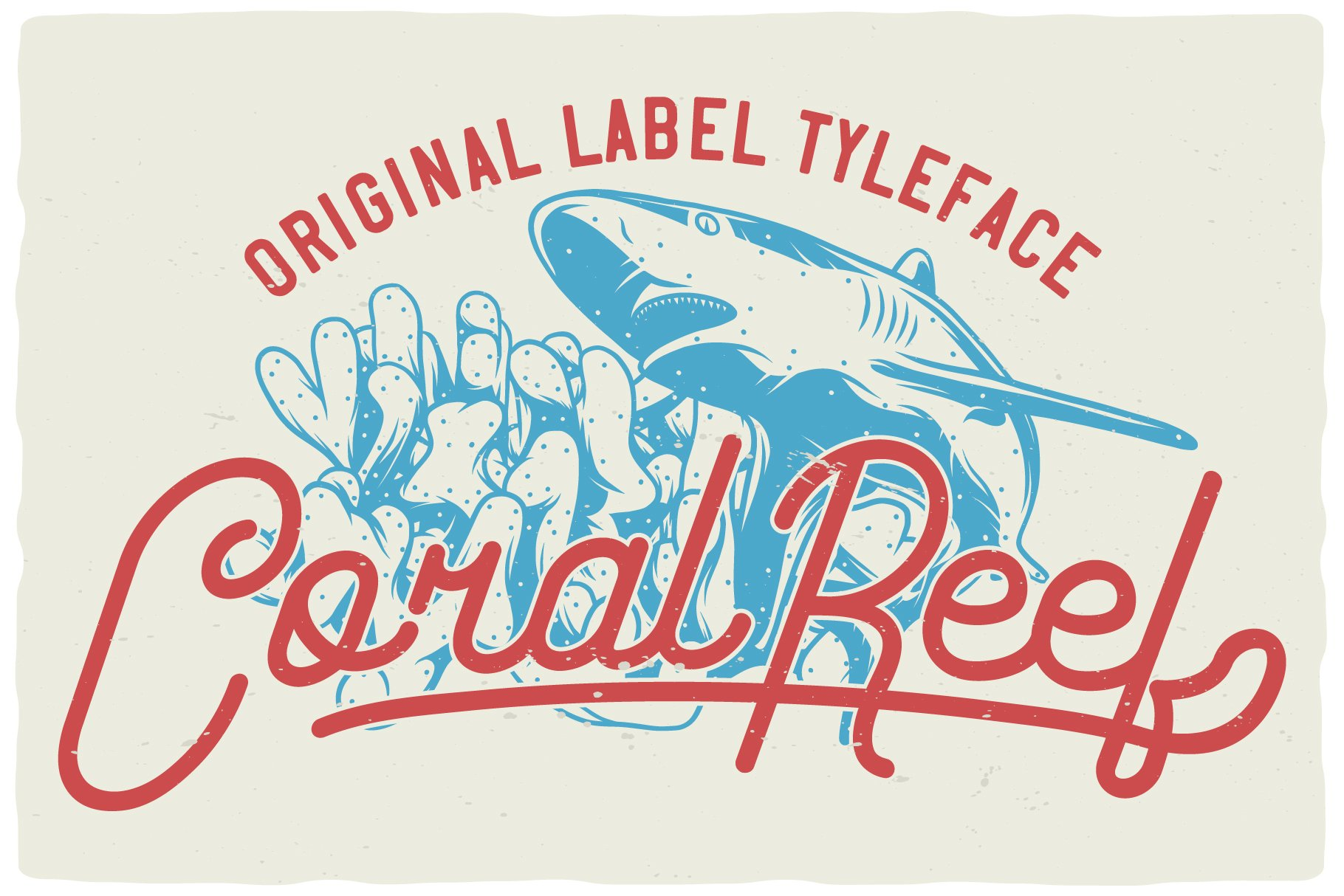 Coral Reef script font example image 3