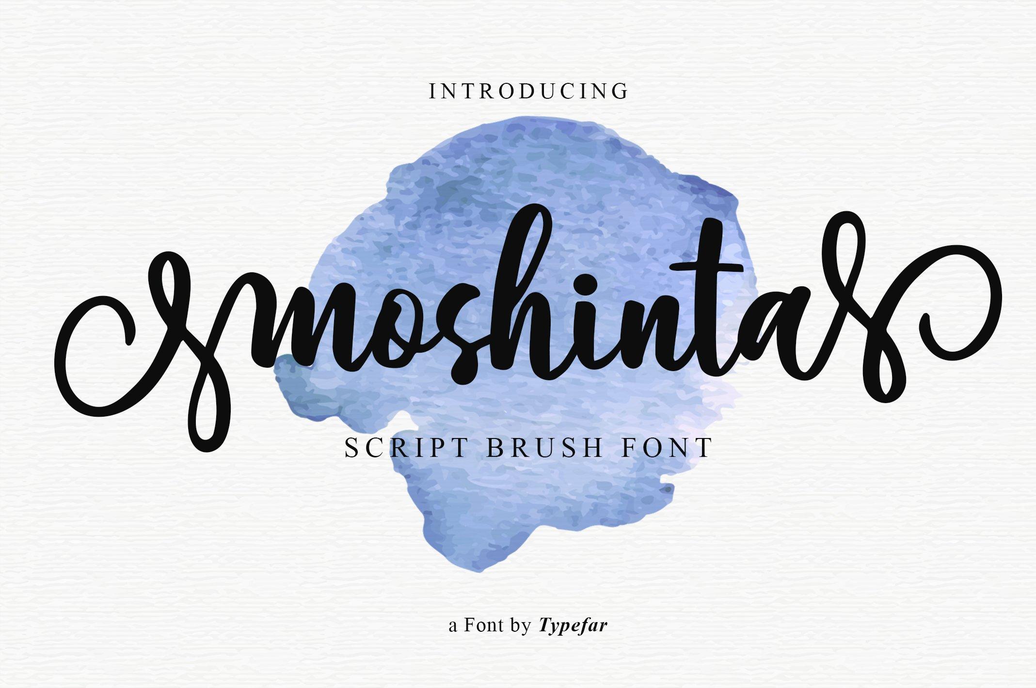 Moshinta Font example image 1