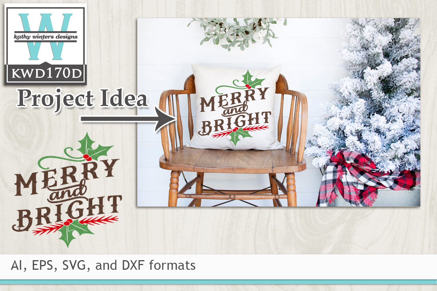 Get Christmas Cutting File Kwd170G Crafter Files