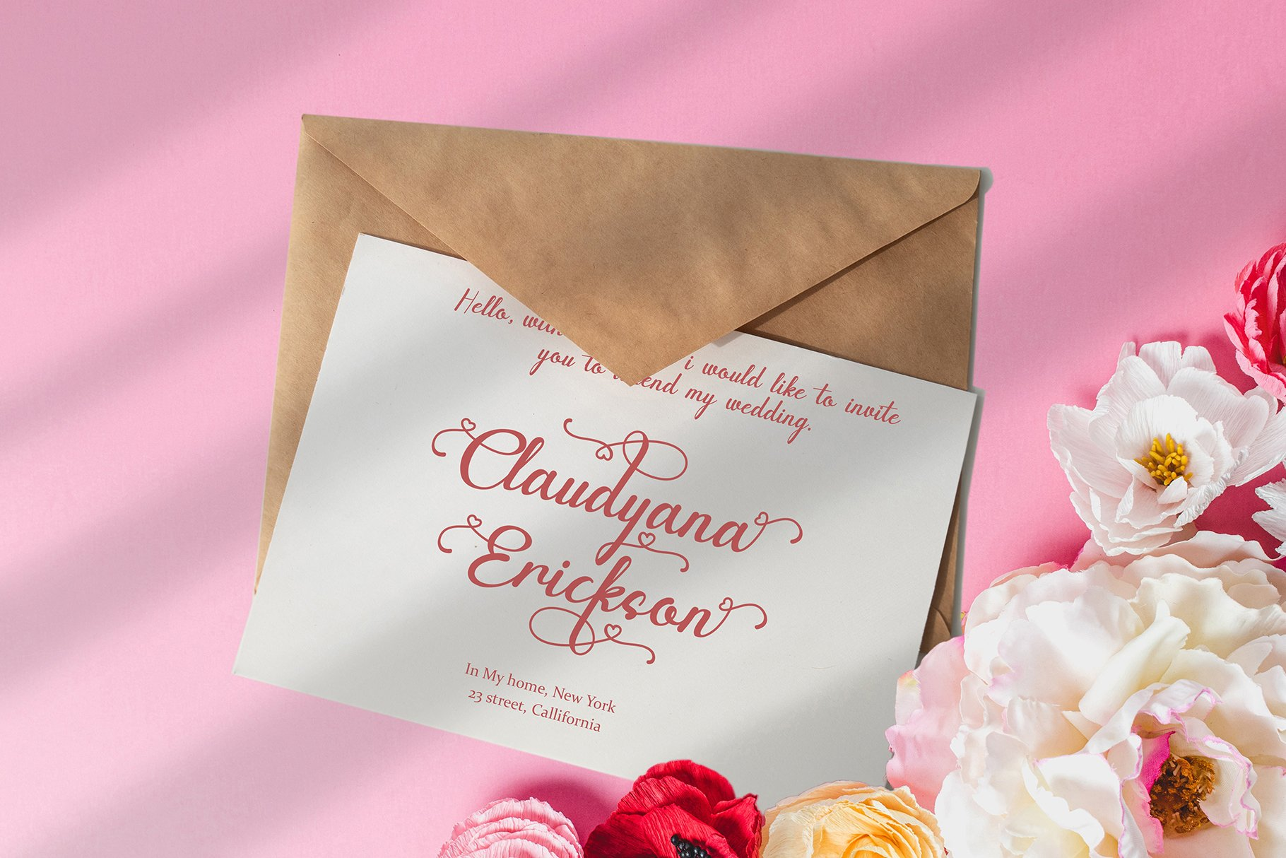 Canding Love - Script font Type face example image 7