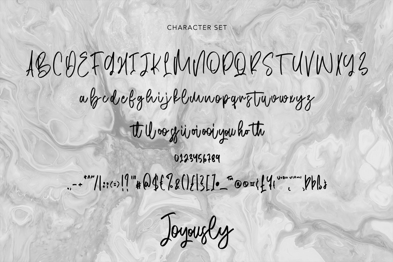 Joyously - Handwritten Script Font example image 4