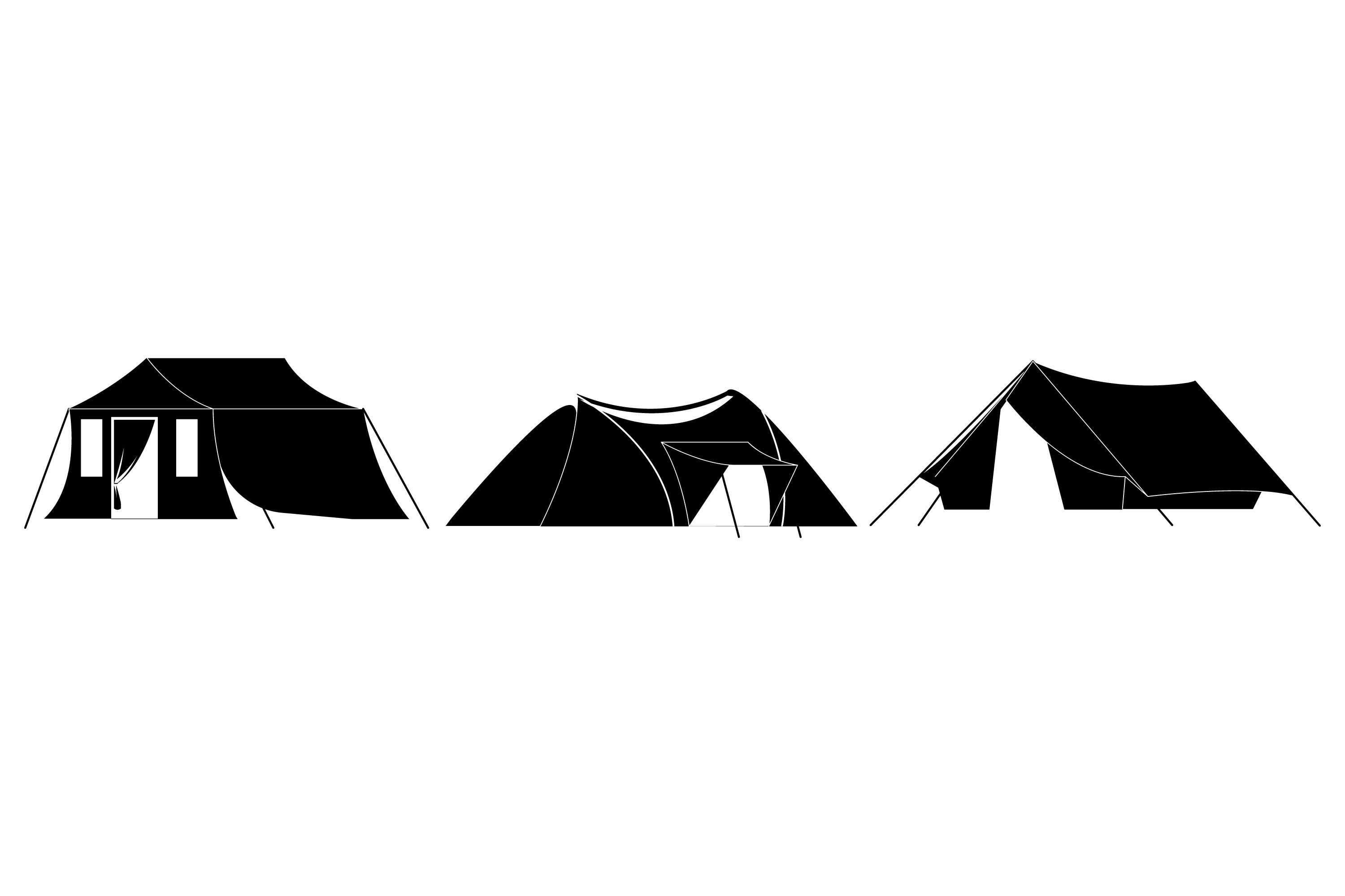 Tent Silhouettes example image 1