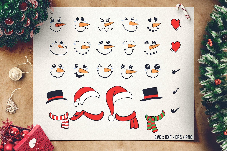 Snowman Face SVG Bundle Accesories - Snowman SVG - Cutomize