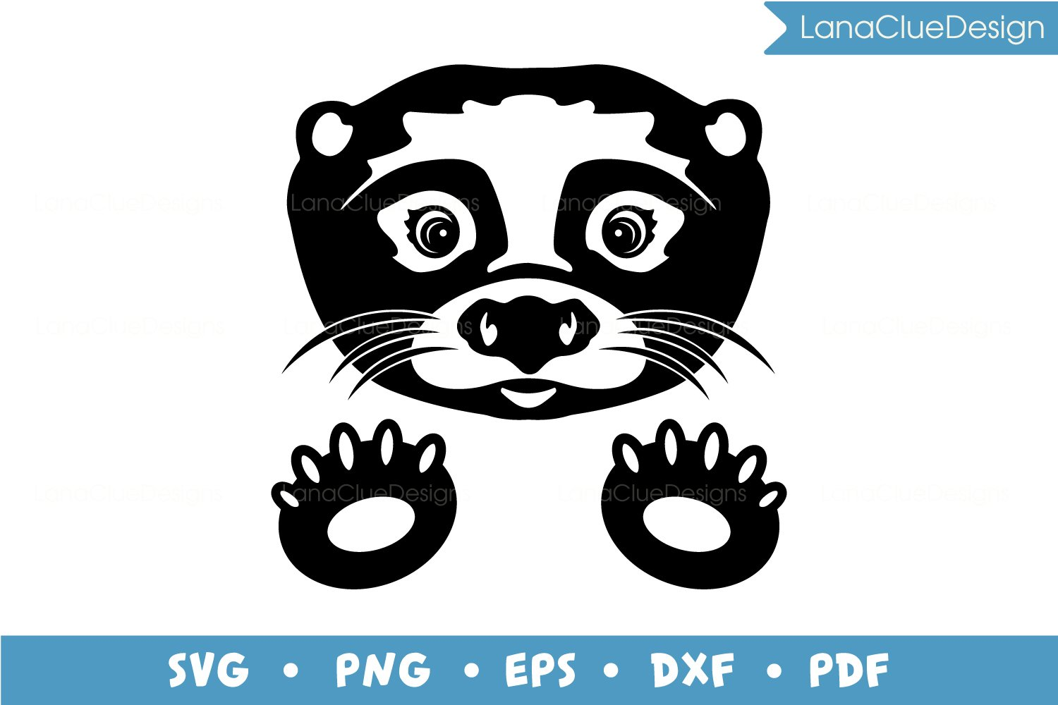 Otter SVG, Silhouette Cut File example image 2